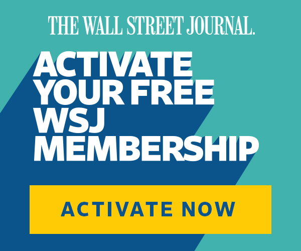 Active your free Wall Street Journal membership